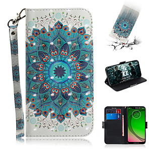 cheap Other Phone Case-Case For Motorola Moto G7 / Moto G7 Plus / Moto G7 Play Wallet / Card Holder / with Stand Full Body Cases Flower PU Leather
