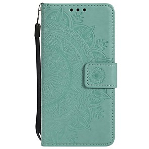 cheap Samsung Case-Case For Samsung Galaxy S6 edge / S6 / S5 Wallet / Shockproof / Flip Full Body Cases Flower Hard PU Leather
