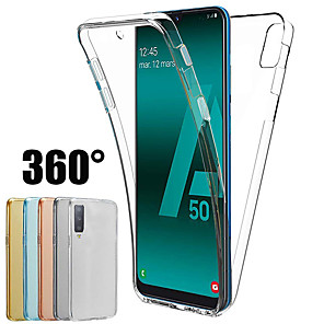 cheap Samsung Case-360 Degree Case for Samsung Galaxy A70 A50 A40 A30 A20 A10 A9 2018 A7 2018 A8 Plua 2018 A8 2018 A6 Plus 2018 A6 2018 Silicone Cover 2 in 1 Front Back Soft TPU Case