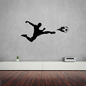 cheap Wall Stickers-Shapes / Football Wall Stickers Plane Wall Stickers / People Wall Stickers Decorative Wall Stickers, PVC Home Decoration Wall Decal Wall Decoration 1pc / Removable
