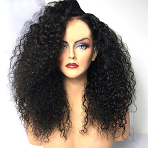 cheap Synthetic Trendy Wigs-Synthetic Wig Afro Curly Layered Haircut Wig Medium Length Natural Black Synthetic Hair 42~46 inch Women's New Arrival Black
