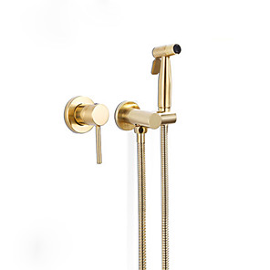 cheap Bidet Faucets-Bidet Spray for Bathroom Brushed Gloden Feature Luxury Accessories