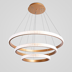 cheap Candle-Style Design-CONTRACTED LED® 3-Light Circle / Geometrical Chandelier Ambient Light Painted Finishes Aluminum LED, New Design, Cool 110-120V / 220-240V Warm White / Cold White
