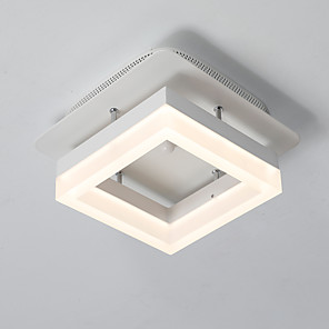 cheap Ceiling Lights-1-Light LED Ceiling Light Square Ceiling Lamp Flush Mount Modern Simple Pendant Lights Downlight Painted Finishes for Corridor Balcony