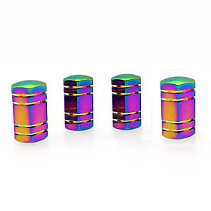 cheap Car Body Decoration & Protection-4 Pcs Colorful Hexagonal Car Tire Valve Stem Cap Cover Auto Accessories