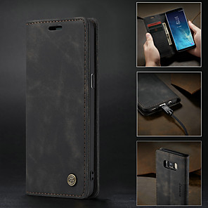 cheap Samsung Case-Case For Samsung Galaxy S9 / S9 Plus / S8 Plus Wallet / Card Holder / Shockproof Full Body Cases Solid Colored Hard PU Leather / Ultra-thin