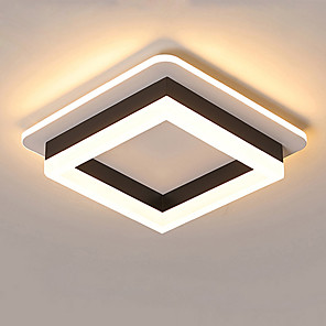 cheap Dimmable Ceiling Lights-1-Light JSGYlights 25 cm New Design Flush Mount Lights Metal Acrylic Painted Finishes LED / Modern 110-120V / 220-240V