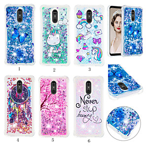 cheap Other Phone Case-Case For LG LG Stylo 5 Shockproof / Dustproof / Flowing Liquid Back Cover 3D Cartoon / Glitter Shine Soft TPU