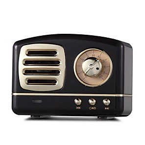 cheap Portable Speakers-HM11 Bluetooth Speaker Vintage Mini Wireless Speaker Retro Heavy Bass Stereo Surround HiFi Sound Effects TF USB AUX Radio BT