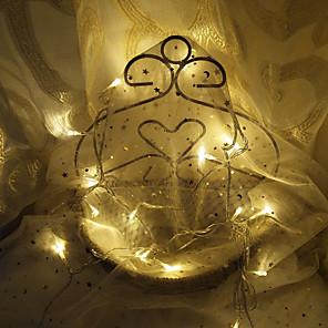 cheap LED String Lights-3m String Lights 20 LEDs Dip Led 1pc Warm White Decorative 220 V
