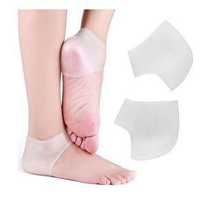 cheap Skin Care-2Pcs Gel Silicon Plantar Fasciitis Therapy Wrap Heel Protect Socks Foot Heel Pain Relief Sleeve Ankle Support Brace