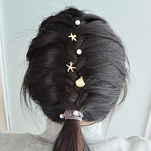 cheap Hair Jewelry-Women's For Daily Holiday Imitation Pearl Alloy Gold 5pcs