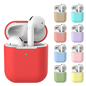 cheap Wired Earbuds-AirPods Case Protective Silicone Skin Holder Bag for Apple AirPods Accessories