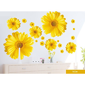 cheap Wall Stickers-Floral / Botanical / 3D Wall Stickers Plane Wall Stickers Decorative Wall Stickers, Paper Home Decoration Wall Decal Wall Decoration 1pc / Removable