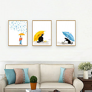 cheap Framed Arts-Framed Art Print Framed Set - People Cartoon PS Illustration Wall Art