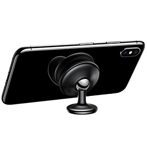 cheap Phone Mounts & Holders-Baseus Magnetic Car Phone Holder 360 Degree Rotation for iPhone XS Max Sticker Dashboard Stand