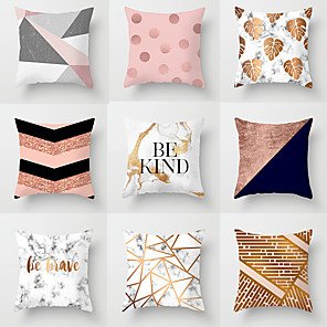 cheap Pillow Covers-1 pcs Polyester Pillow Cover, Geometic Modern Square Traditional Classic