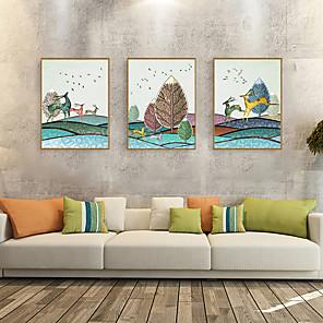 cheap Framed Arts-Framed Art Print Framed Set - Animals Cartoon PS Illustration Wall Art