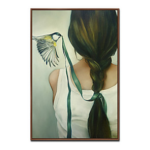 cheap Framed Arts-Framed Art Print Framed Canvas Prints - People PS Oil Painting Wall Art