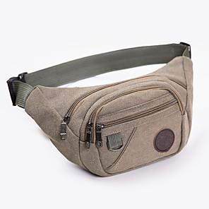 cheap Running Bags-Running Belt Fanny Pack Waist Bag / Waist pack 1 L for Fishing Hiking Climbing Cycling / Bike Sports Bag Wearable Cotton Running Bag