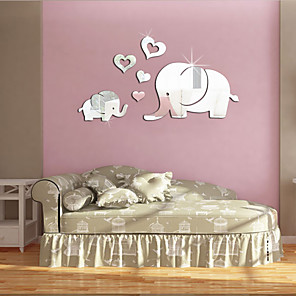 cheap Wall Stickers-Animals Wall Stickers Plane Wall Stickers Decorative Wall Stickers, Paper Home Decoration Wall Decal Wall Decoration 1pc / Removable