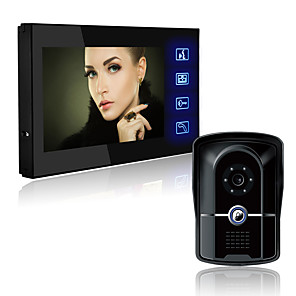cheap Video Door Phone Systems-LITBest 806FG11 Wired Built in out Speaker 7 inch Hands-free 800*480 Pixel One to One video doorphone