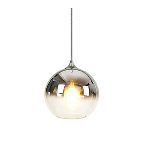 cheap Indoor Wall Lights-1-Light 20 cm Pendant Light Glass Glass Globe Electroplated Nordic Style 110-120V / 220-240V