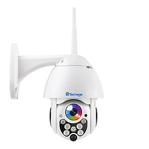 cheap Testers & Detectors-Techage Wireless Surveillance Camera Waterproof Outdoor Remote Monitor Night Vision Full Color Ptz Hd Dome Camera 2 Million 1080P Fixed Focus Full Color Night Vision To Send 16G Card
