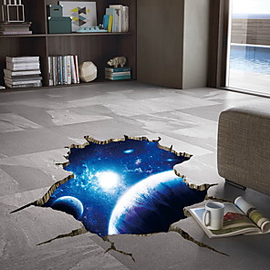 cheap Wall Stickers-3D Space Nebula Wall Stickers - Plane Wall Stickers Floral / Botanical / Landscape Study Room / Office / Dining Room / Kitchen