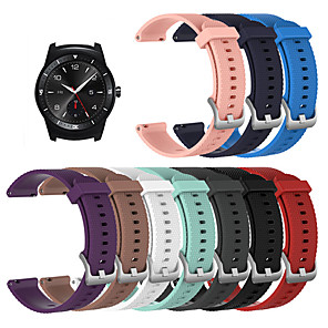 cheap Smartwatch Bands-Watch Band for LG G Watch W100 / LG G Watch R W110 / LG Watch Urbane W150 LG Sport Band Silicone Wrist Strap