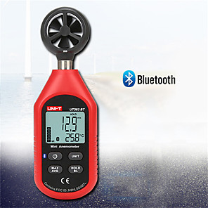 cheap Testers & Detectors-UNI-T UT363BT Wind Speed Meter Digital Bluetooth Pocket Size Anemometer Measurement Thermometer Mini Wind Meter Anemometer