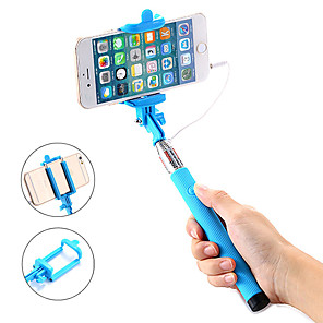 cheap Selfie Sticks-Selfie Stick Wired Extendable Max Length 100 cm For Android / Universal / iOS Android / iOS Universal