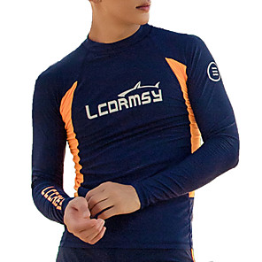 cheap Wetsuits, Diving Suits & Rash Guard Shirts-LCDRMSY Men's Rash Guard Dive Skin Suit Diving Suit Thermal / Warm UV Sun Protection Quick Dry Long Sleeve Swimming Patchwork Summer / High Elasticity