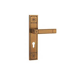 cheap Video Door Phone Systems-7.30(3) Door Levers Mechanical key Zinc Alloy