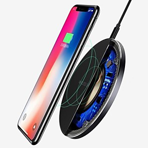 cheap Wall Chargers-For Samsung Galaxy S8 S9 S10 Plus QI Wireless Charger Fast Charging Dock Mat Pad