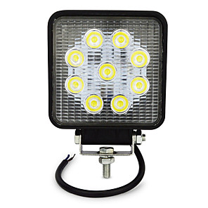 cheap Motorcycle Lighting-27W 4 Inch Square LED Work Light for Indicators Motorcycle Offroad Boat Car Tractor Truck