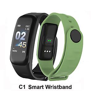 cheap Smart Wristbands-C1 Smart Bracelet fitness bracelet Dynamics Color Screen Waterproof Activity Heart Rate Monitor Blood Pressure Measurement