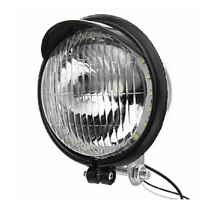 cheap Motorcycle Lighting-12V Retro LED Motorcycle Bullet White Headlights Hi/Low Beam Super Bright Light