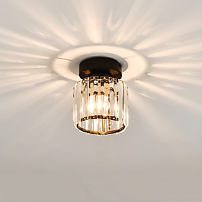 cheap Ceiling Lights-1-Light CONTRACTED LED® Crystal / Geometrical Flush Mount Lights Ambient Light Glass Crystal, Mini Style, Creative 110-120V / 220-240V