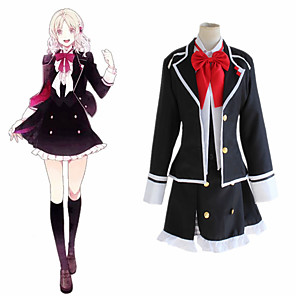 cheap Anime Costumes-Inspired by Diabolik Lovers Komori Yui Anime Cosplay Costumes Japanese Cosplay Suits Coat Vest Skirt For Women's / Bow Tie