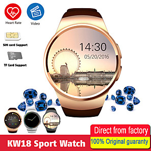 cheap Smartwatches-KW18 Smart Watch Smart Watch BT Fitness Tracker Support Notify/ Heart Rate Monitor Sport Bluetooth Smartwatch Compatible IOS/Android Phones