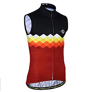 cheap Cycling Jerseys-21Grams Plaid / Checkered Men's Sleeveless Cycling Jersey Cycling Vest - Black / Red Black / White Bike Top Breathable Quick Dry Moisture Wicking Sports Terylene Mountain Bike MTB Road Bike Cycling