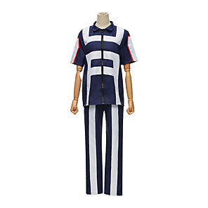 cheap Anime Costumes-Inspired by My Hero Academia Boko No Hero Todoroki Shoto Anime Cosplay Costumes Japanese Cosplay Tops / Bottoms For Men's Women's