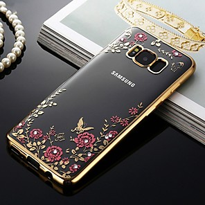 cheap Samsung Case-Case For Samsung Galaxy S9 / S9 Plus / S8 Plus Shockproof / Dustproof / Pattern Back Cover Flower Soft TPU