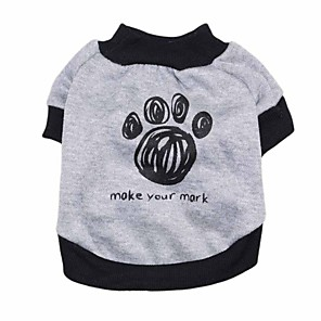 cheap Dog Clothes-Dogs Shirt / T-Shirt Vest Dog Clothes Gray Costume Dalmatian Corgi Beagle Polyester Animal Quotes & Sayings Casual / Daily Simple Style XS S M L