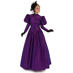 cheap Historical & Vintage Costumes-Duchess Victorian Ball Gown 1910s Edwardian Dress Party Costume Women's Costume Purple Vintage Cosplay Masquerade Short Sleeve Floor Length Long Length Plus Size / Blouse / Blouse
