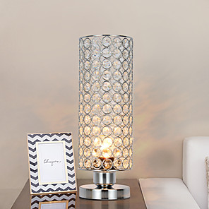 cheap Table Lamps-Table Lamp Crystal / Adorable Crystal / Modern Contemporary For Living Room / Bedroom Metal 110-120V / 220-240V