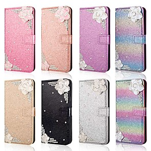 cheap Samsung Case-Case For Samsung Galaxy A51 /M40S / A71 Wallet / Shockproof Flower Diamond Glitter PU Leather Case For Samsung S20 Plus / S20 Ultra/A20e/A50s/A30s/A10/A60/A70/A80/S10 Lite/S10 5G/S10 Plus/Note 10 Plus