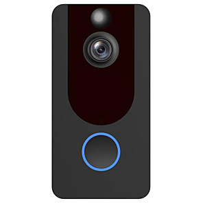 cheap Video Door Phone Systems-Factory OEM V7 HD Wireless Remote Doorbell No Screen(output by APP) Handheld One to One Video Day / Night Vision Smart Video Home Security Visual Recording Doorphone