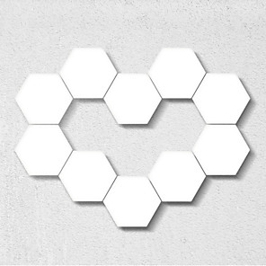 cheap LED Smart Night Lights-15pcs Quantum Light Touch Sensor Night Lights LED Hexagon Light Magnetic Modular touch Wall Lamp Creative Home Decor Color Night lamp